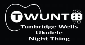 TWUNT logo White on Black horizontal words centre aligned