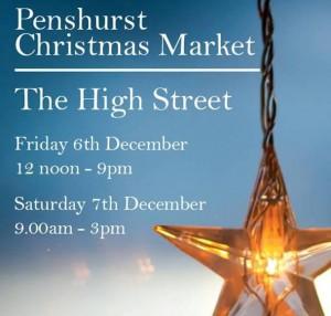 Penshurst Christmas Market poster